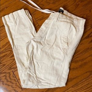 Banana Republic Straight Fit Linen Pant